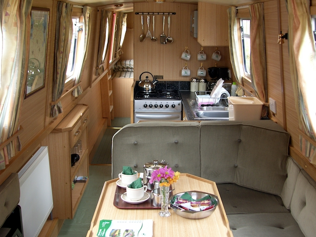 A typical canal boat interior